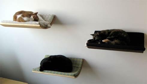 Εντυπωσιακό κρεβάτι για γάτες