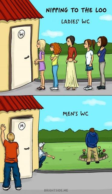 Κάποιες αστείες διαφορές μεταξύ αντρών και γυναικών